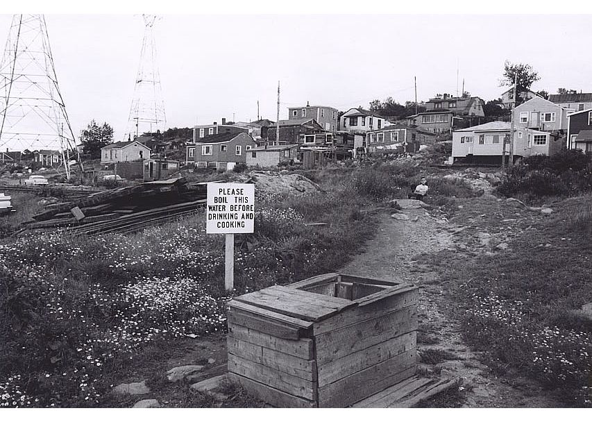 A photo of Africville in the 1960s, via the Nova Scotia Archives, http://www.novascotia.ca/nsarm/virtual/africville/archives.asp?ID=12
