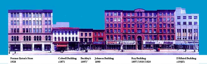 A depiction of the Barrington Street historic buildings, form Heritage Trust's website.