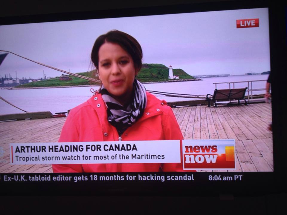 CBC reporter Anjuli Patil was sent out to the boardwalk yesterday to tell us it wasn't raining.