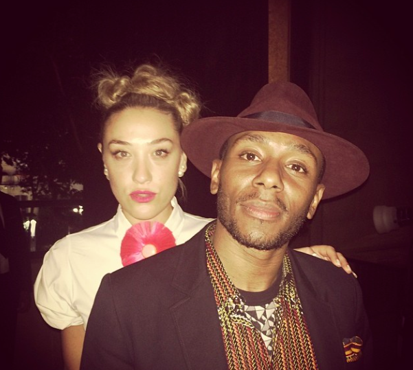 Rather than play his contracted Halifax Jazz Festival gig Saturday night, Yasiin Bey (aka Mos Def) flew to Paris to hang with Mia Moretti. Photo was posted to Moretti's Instagram account later that night.