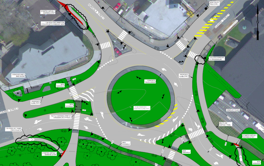 The North Park/Cunard/Agricola roundabout. More info: http://shapeyourcityhalifax.ca/document/show/98