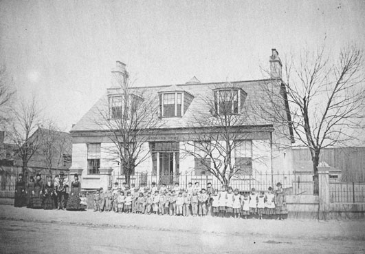 An 1874 photo of the Protestant Orphanage. Photo: NS Archives
