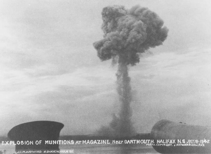 The Magazine Hill explosion of 1945.