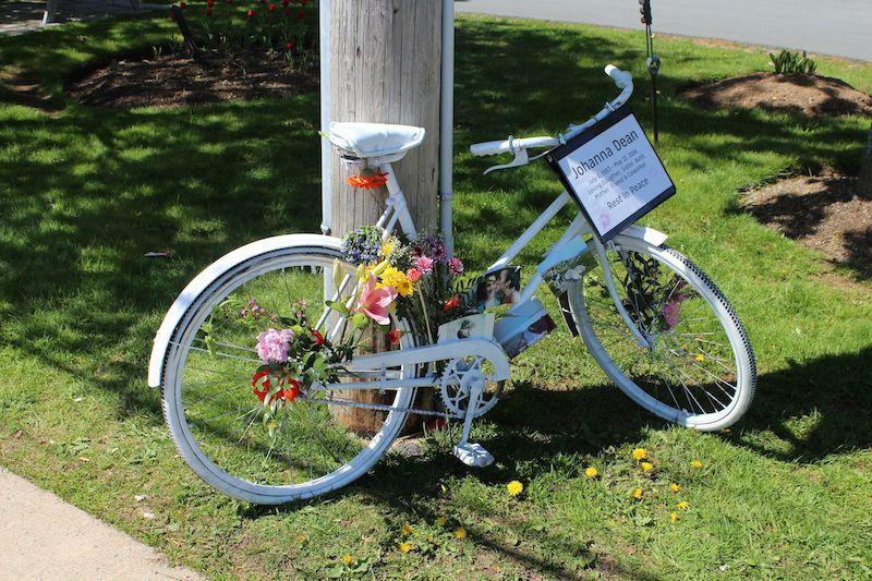 Johanna Dean's ghost bike. Photo: Halifax Examiner