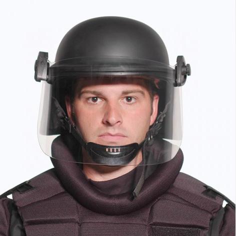 The Premier Crown model JCR-100 riot helmet.