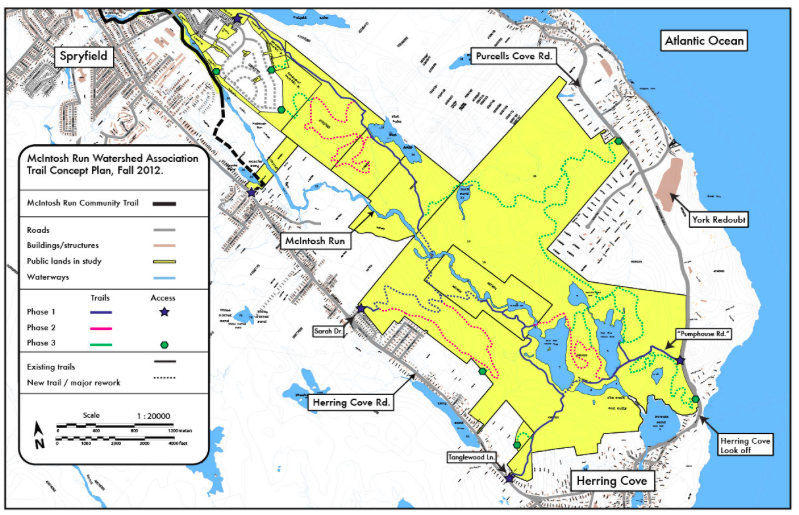 The McIntosh Run Watershed Association's proposed network of trails. map: mcintoshrun.ca