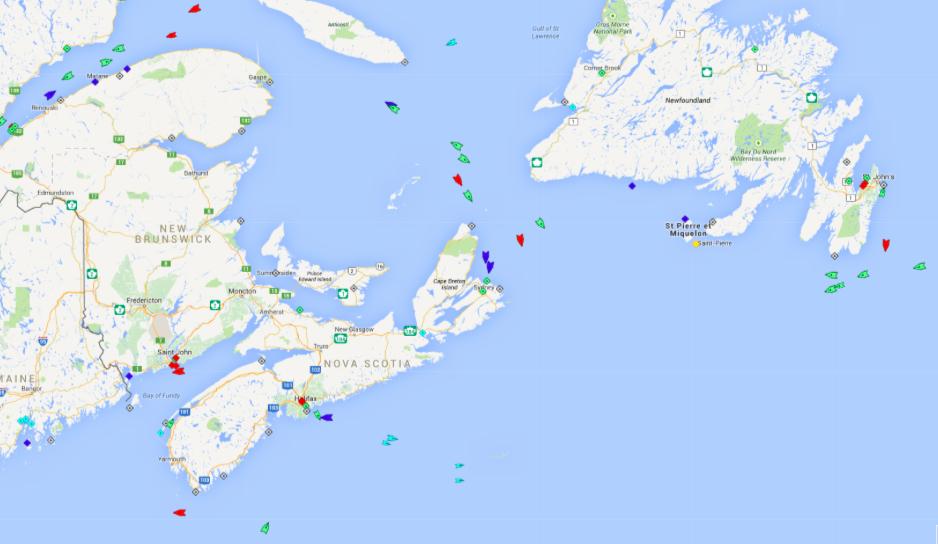 The seas in Atlantic Canada, 5:30am Friday.