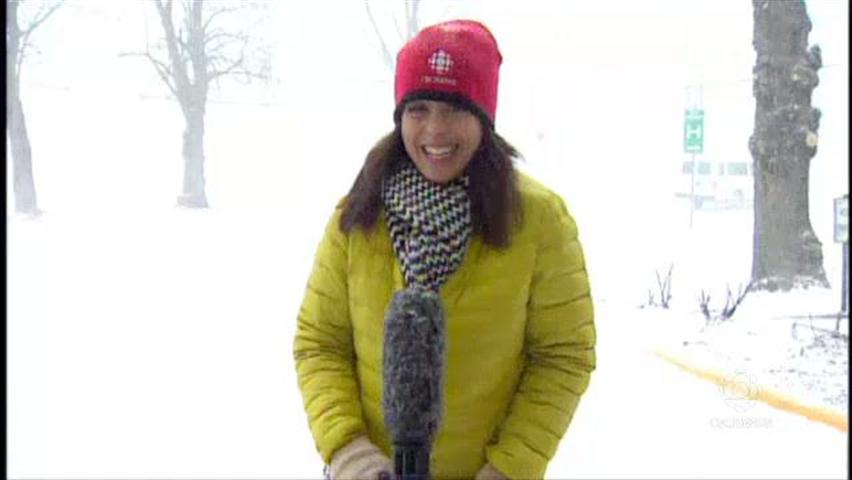 Anjuli Patil, the CBC's go-to weather reporter.