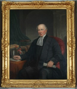 Portrait of Judge Haliburton hanging in the Red Room, Province House.