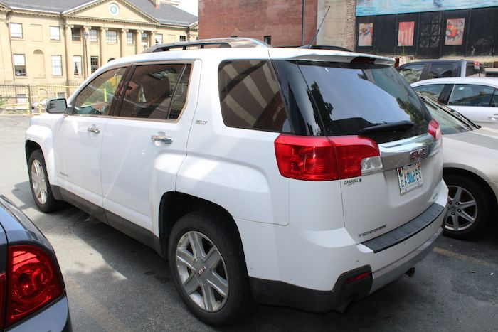 Linda Mosher's white SUV. Photo: Halifax Examiner