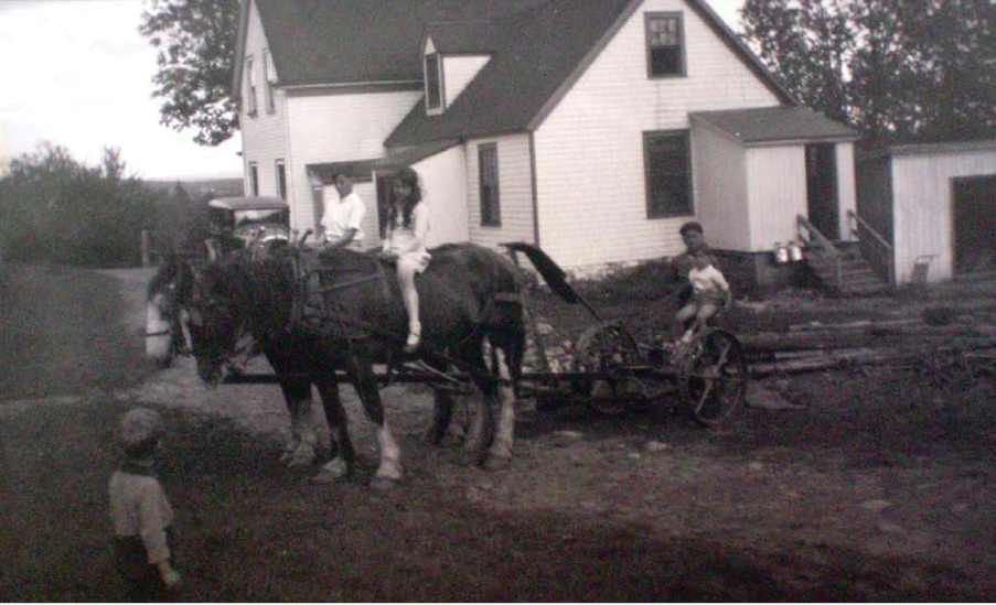 Oland Family at Lindwood (Marianbad). Photo courtesy of Michelle Moxon, current owner of Lindwood House.