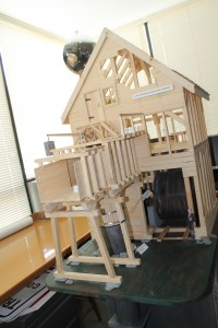Model of the power house to be constructed at the Shubenacadie Canal. Photo via Kate Watson.