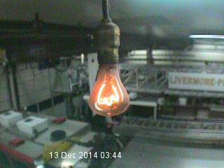 The Livermore, California firehouse light bulb, at 3:45am local time this morning,