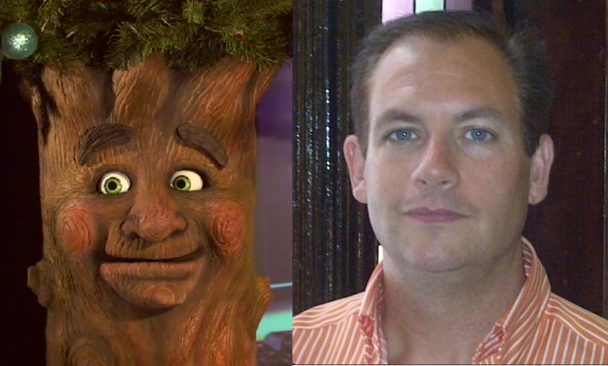 News 95.7 put together this Separated at Birth pairing of councillor Brad Johns (l) and a talking Christmas Tree (r) (or maybe the other way around). Photos: AXTELL EXPRESSIONS/@BRADJOHNS157