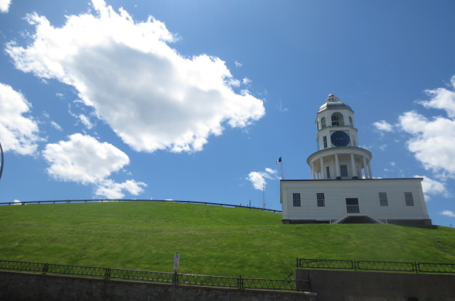 Citadel Hill is worth 10 bucks, says the federal government. The clock is extra. Photo: Rebecca Rose