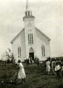 St. Barra Church in Christmas Island, back when people weren't afraid of priests. Photo: beatoninstitutemusic.ca