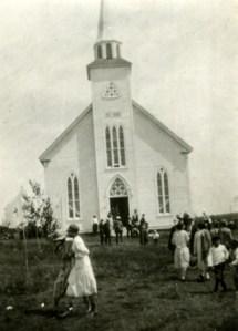 St. Barra Church in Christmas Island, back when people weren't afraid of priests. Photo: beatoninstitutemusic.ca