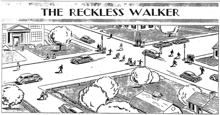 "The lead art on a June 11, 1939 Washington Post story headlined ""Pedestrian Involved in 40 Per Cent of Year's Casualties"""
