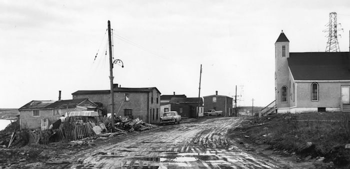 Africville road and church. Photo: Nova Scotia Archives