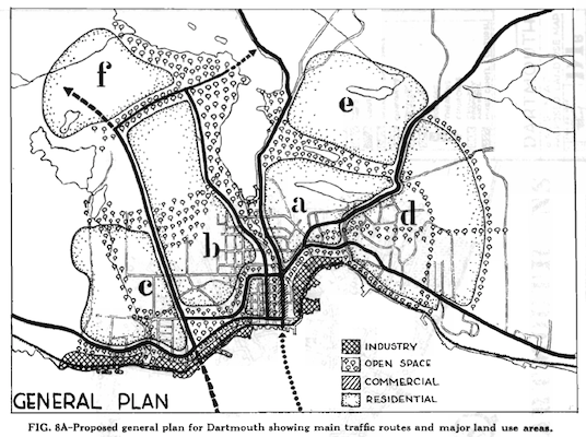 The 1945 Dartmouth General Plan.