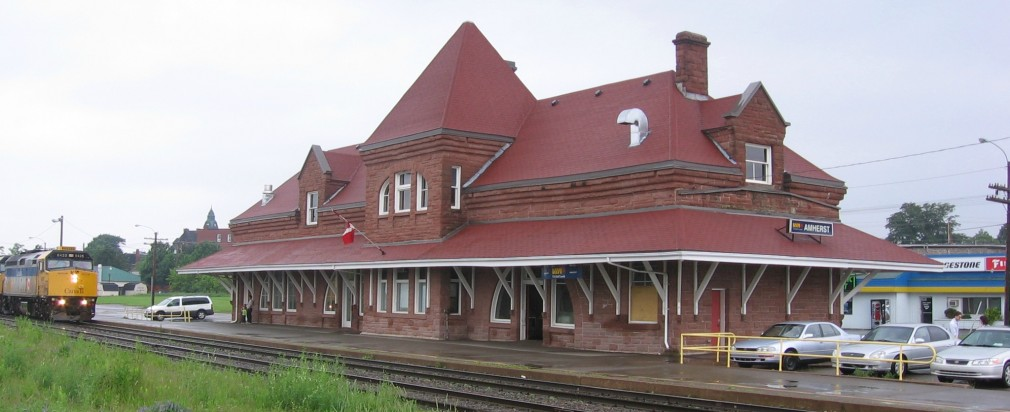 The Amherst train station.