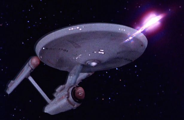 The Enterprise NX-01, demonstrating the principles of non-violence by firing unimaginably powerful weapons.