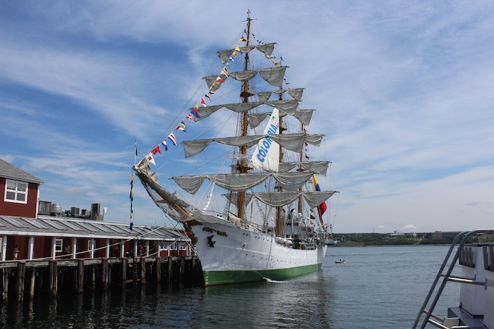 A.R.C. Gloria, the Columbian navy's sailing ship. Photo: Halifax Examiner