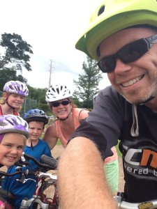Families that bike together, stay together. Photo by Jeff White.