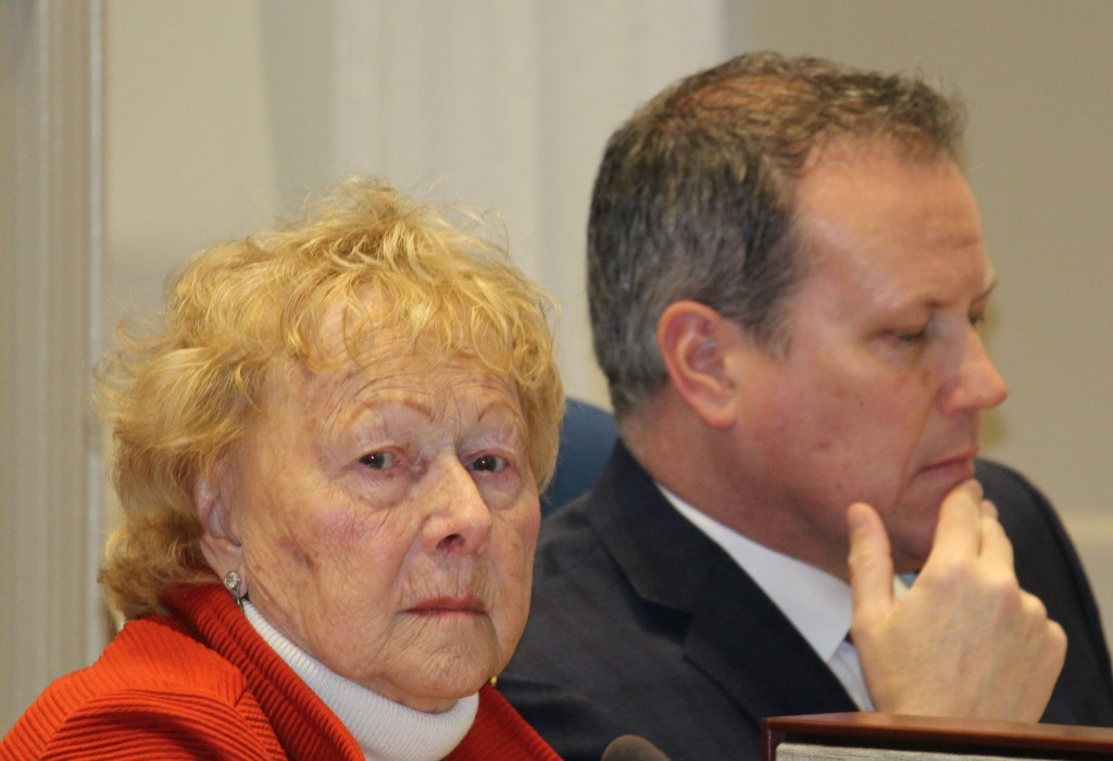 Councillors Gloria McCluskey and Darren Fisher. Photo: Halifax Examiner
