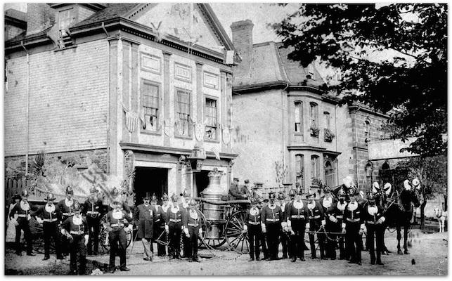 Queen Street fire station, circa 1880. Photo: Nova Scotia Archives
