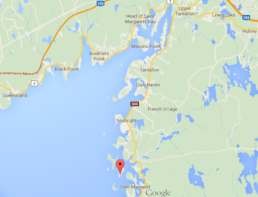 Troop Island is indicated on this Google map.