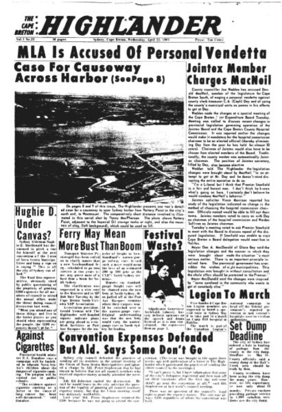 Cape Breton Highlander, April 22, 1964.