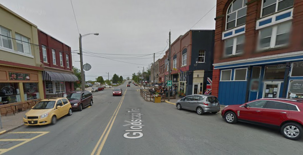 Downtown Windsor is filthy, says an American. (Google Street View of Water Street)