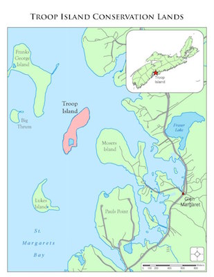 Map: Nova Scotia Nature Trust