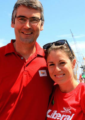 Premier Stephen McNeil with his Director of Strategic Operations, Kristan Hines.