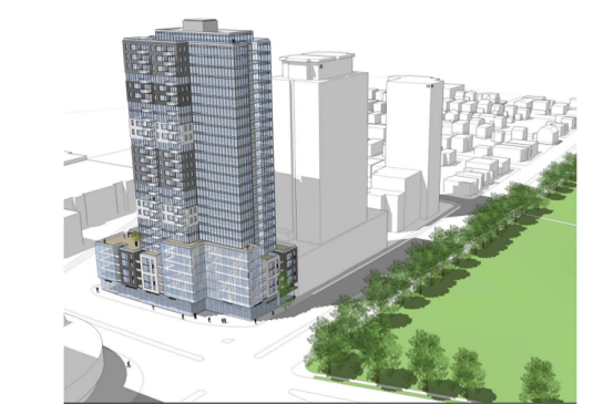 A 29-storey building is proposed for Quinpool Road.