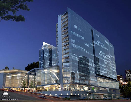 An earlier design of the Nova Centre. I use this rendering because it really annoys people.