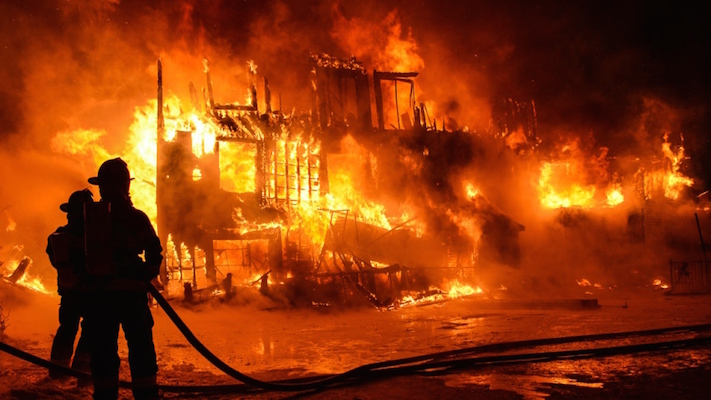 FIrefighters battled a blaze at the Résidence du Havre nursing home in L'Isle-Verte, Quebec, where 32 elderly people died. But that could never happen in Hammond Plains, because, well, because. Photo: carp.ca.