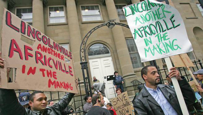 image of African Nova Scotians being expert about the racism they experience. From the Chronicle Herald