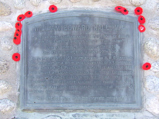 Lest we forget that Hall kicked some Hindu ass, we leave poppies on his grave at Hantsport. Photo: Letterofmarque via Wikipedia