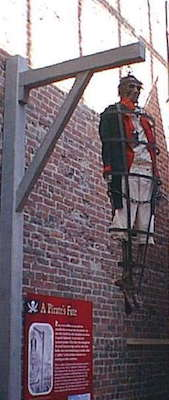 A recreation of the hanging of Edward Jordan. Photo: Maritime Museum