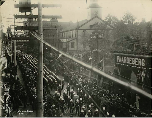 The Boer War victory parade on Barrington Street. Photo: Nova Scotia Archives