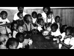 Children at the Home for Colored Children in an undated photo.
