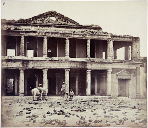Inside the Sikandra Bagh, Lucknow, circa 1858. Photo: Smithsonian Institute
