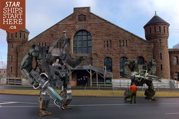 The Halifax Armoury is the fist line of defence against alien invasion.