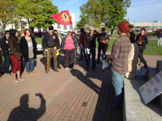 Anti-women protestors at Cornwallis Park (image from cbc.ca)