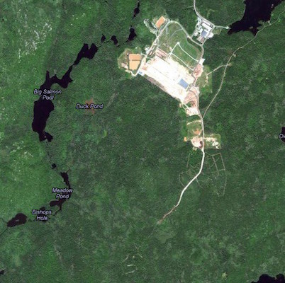 Satellite view of the Otter Lake Landfill from Google Maps