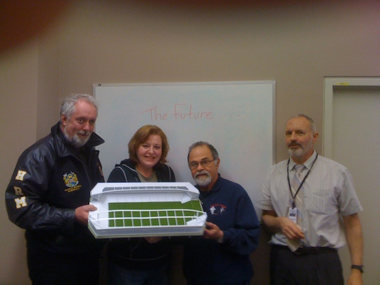 Left to Right: Councillor David Hendsbee, Councillor Dawn Sloane, Councillor Jerry Blumenthal, and Kevin Langille. Photo: skyscapaergage.com