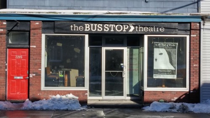 The aptly named Bus Stop Theatre on Gottingen Street.