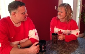 Action Man Scott Warnica and his wife. Photo: CBC